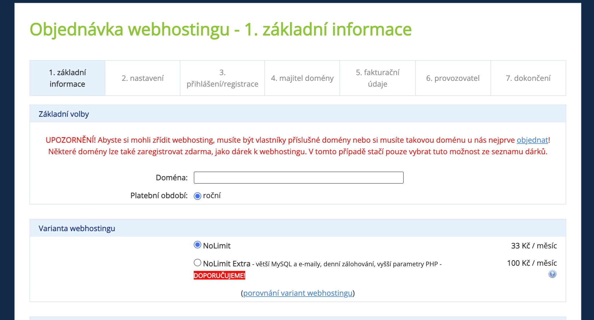 wedos hosting https