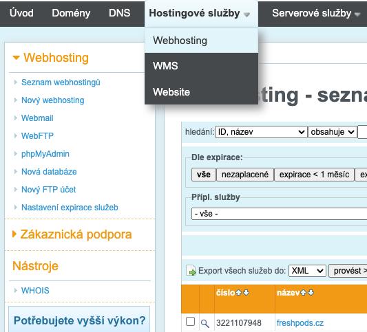 jak nainstalovat WordPress na Wedos hosting