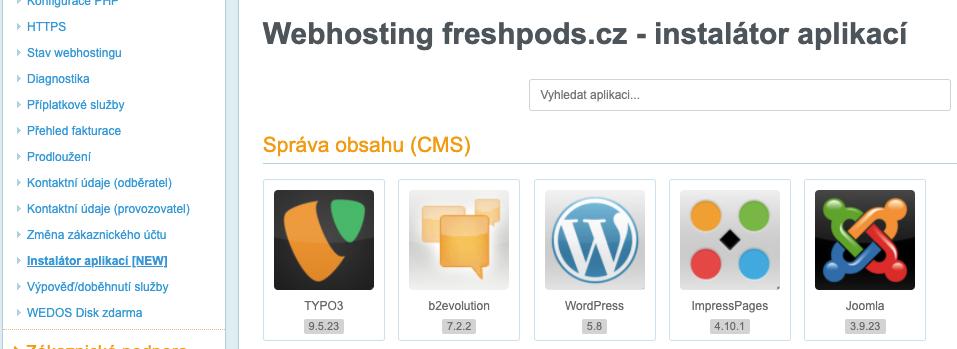 instalace WordPressu jedním kliknutím